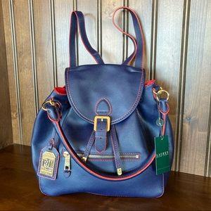 NWT Lauren Ralph Lauren Crawley Backpack